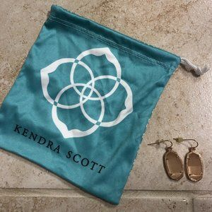Kendra Scott Peach Cats Eye Dani Earrings